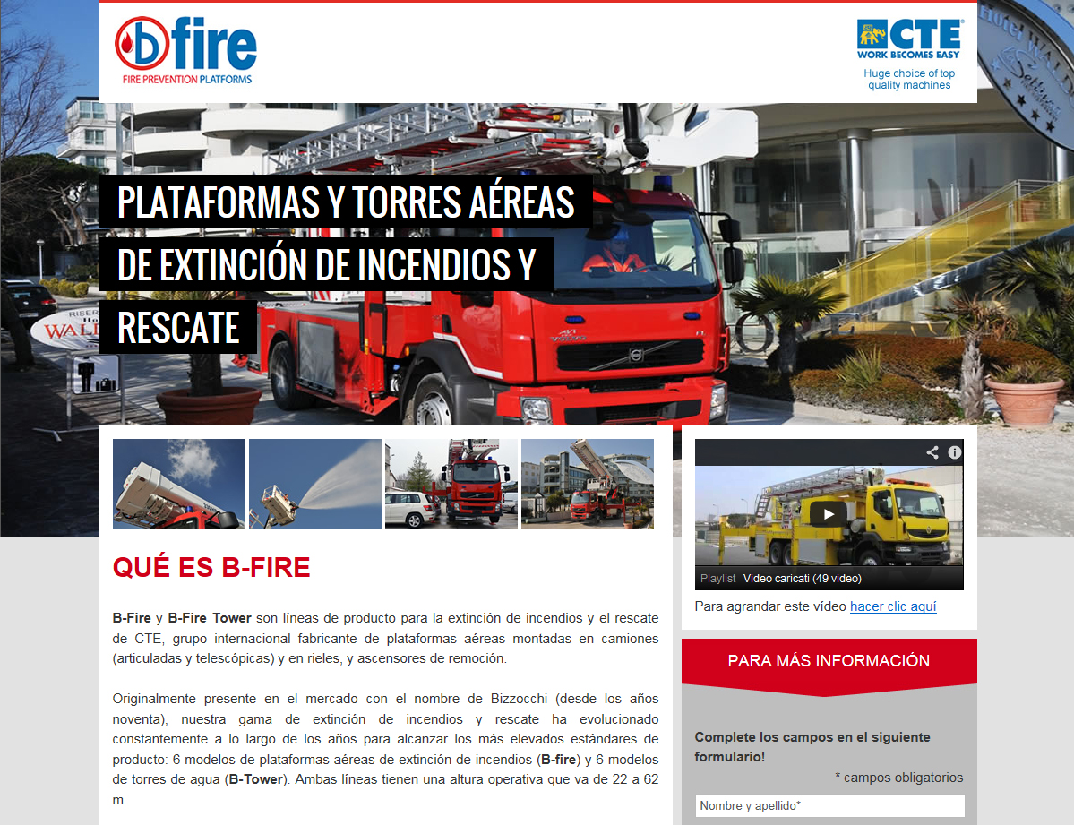 CTE B-Fire website is now multilingual: available Chinese